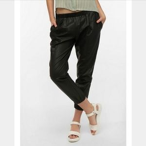 New! UO Sparkle & Fade Vegan Leather Jogger Pants